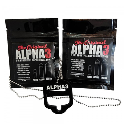 Alpha 3 Short Fill Bottle Cap Removal Tool